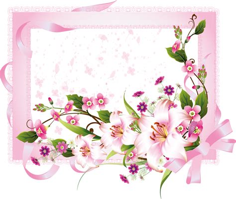 Free Vector がらくた素材庫: 花柄の招待状 Wedding invitation card with flower