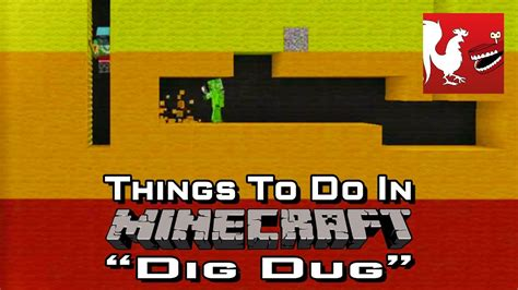 Things to Do In Minecraft - Dig Dug   Rooster Teeth - YouTube