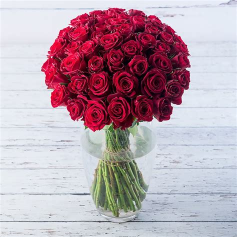 50 Red Roses Delivered   Red Rose Bouquet - Appleyard London