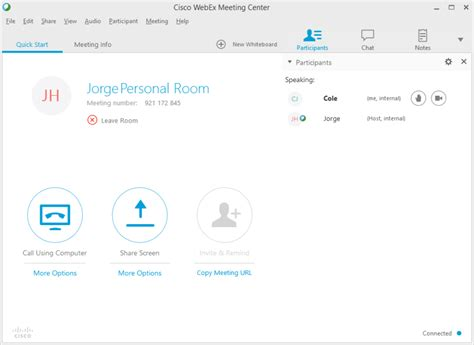 WebEx Audio and Webcam - Joining a Meeting - Help Desk